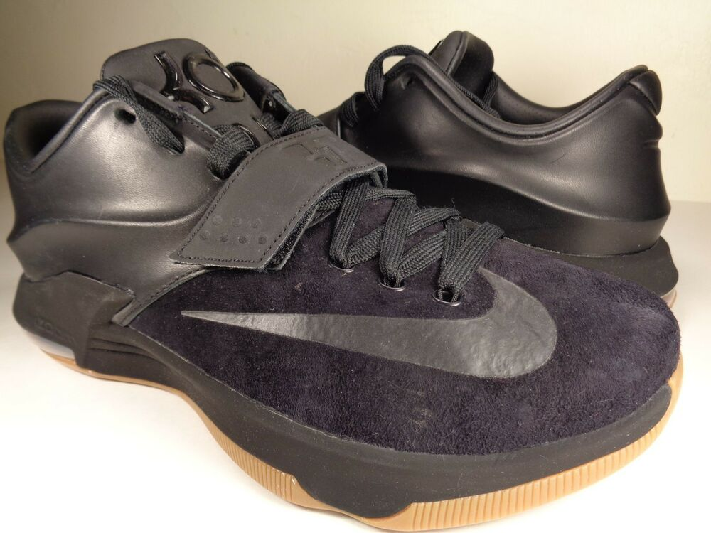 Nike KD 7 VII EXT Suede QS noir Gum Durant SZ 9 (717593-001)