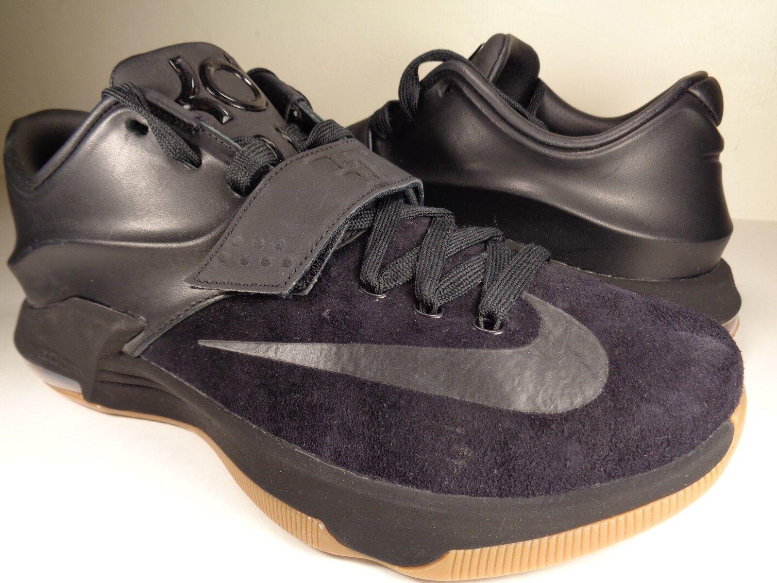 Nike Qs Kd 7 Vii Ext Gamuza Qs Nike Negro Goma Durant (717593001) aac922