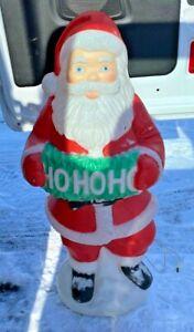 "Vintage Ho Ho Ho Santa 40"" Lighted Yard Out Door Blow Mold Plastic"