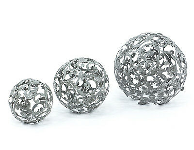 Beliebte Marke Ranke Kugel 17 Cm Metall Garten Terrasse Dekoration Antikgrau Schale Beet 70059 Hochglanzpoliert