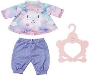 Zapf Creation Baby Annabell Sweet Dreams Doll Nightwear Outfit For 43cm Dolls