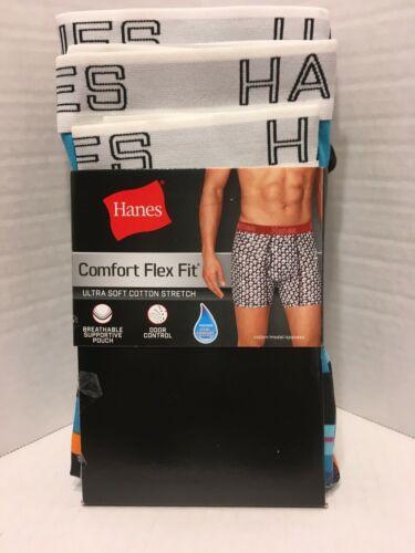 3PK NEW Mens Hanes Comfort Flex Fit Boxer Briefs Cotton Various Sizes /& Colors