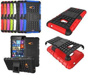 best sneakers 8e52e 240fc Details about MICROSOFT LUMIA 535 [Slim Armour] Tough Shock Proof Case  Cover Stand + LCD Guard