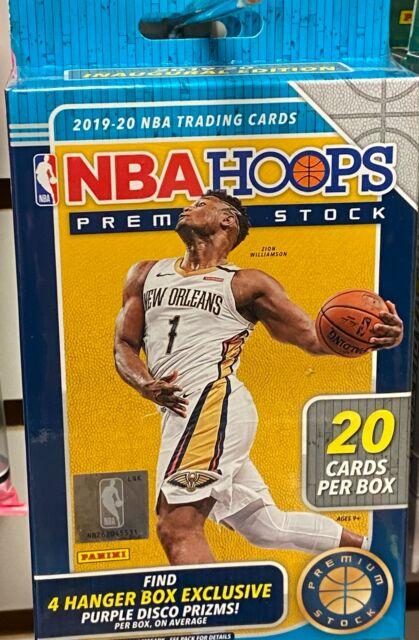 2019-20 Panini Hoops NBA Basketball Premium Stock Hanger Box - Ja, Zion, Herro