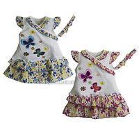 Baby Girl Dress Set Shirt, Short Skirt With Headband Outfit Size 3 6 9 Months