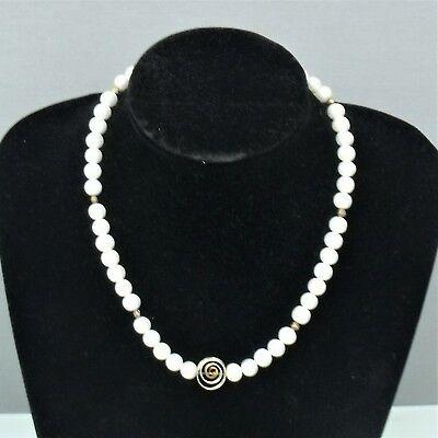 Perlenkette Mit 925 Er Silber Verschluss, Perlen- D= 8,5 Cm (171030) Eine GroßE Auswahl An Modellen