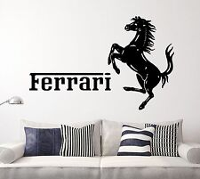 Ferrari Wall Window Decal Sports Sticker Decor Vinyl Large Cars Horse