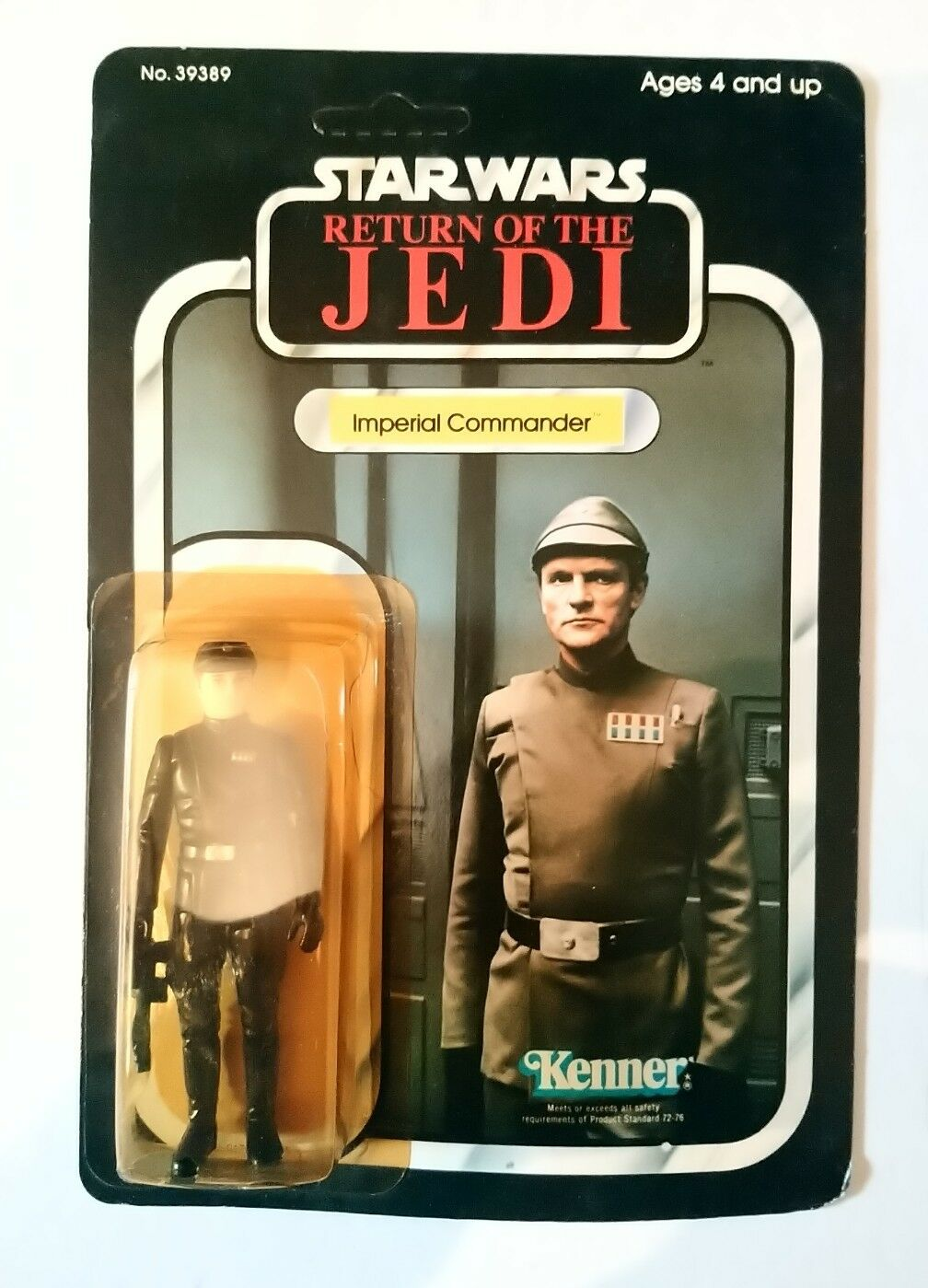 VINTAGE STAR WARS IMPERIAL COMMANDER R.O.T.J. KENNER 1983 NEW MOC WITH STARCASE