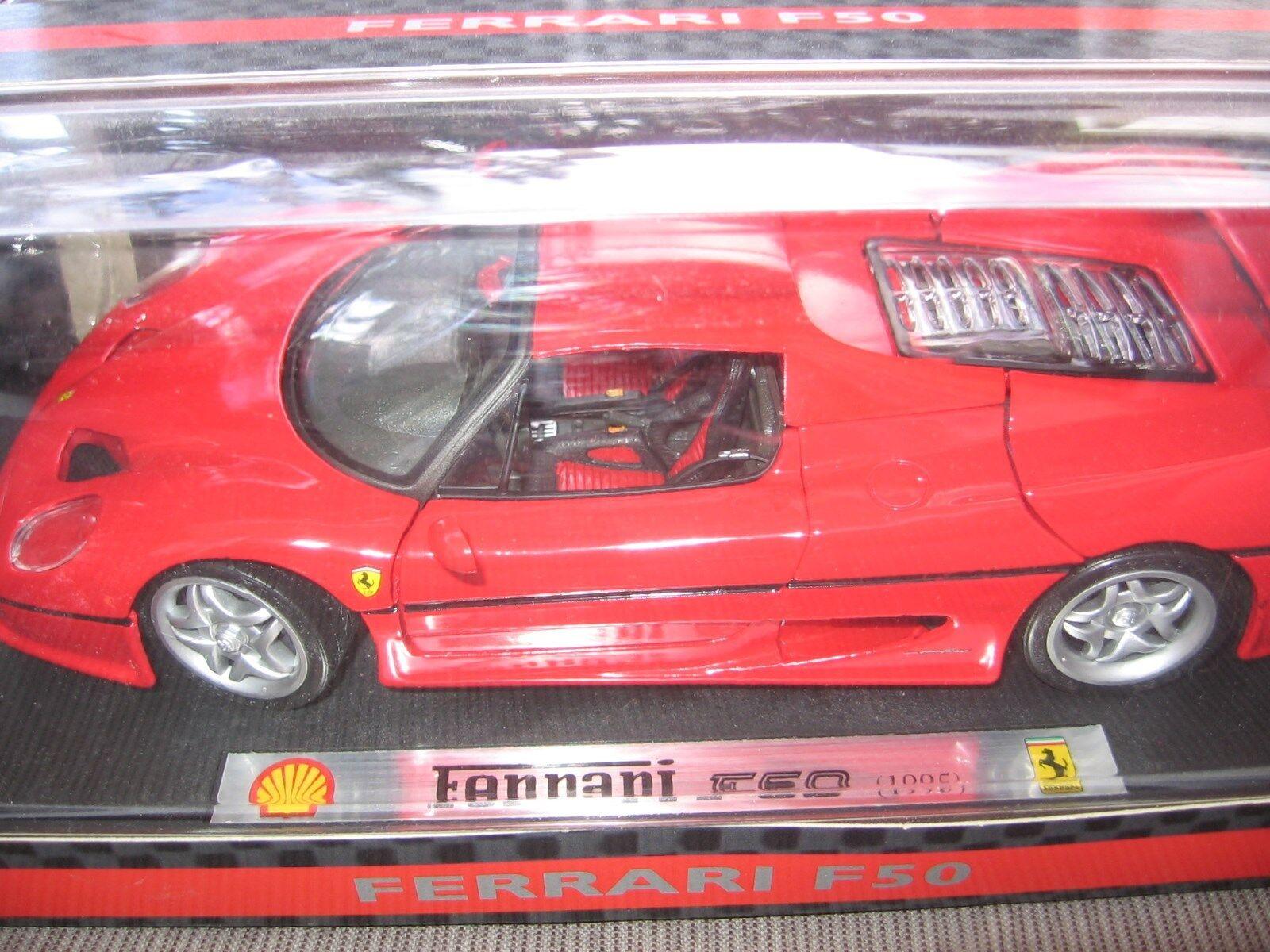 FERRARI f50 rosso 1995 Shell Limited Edition 1 18 Maisto OVP & NEW