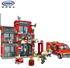 Xingbao-Feuerwache-Spielzeug-Modell-Rettung-Baukaesten-Toys-Bausteine-DIY-1245PCS