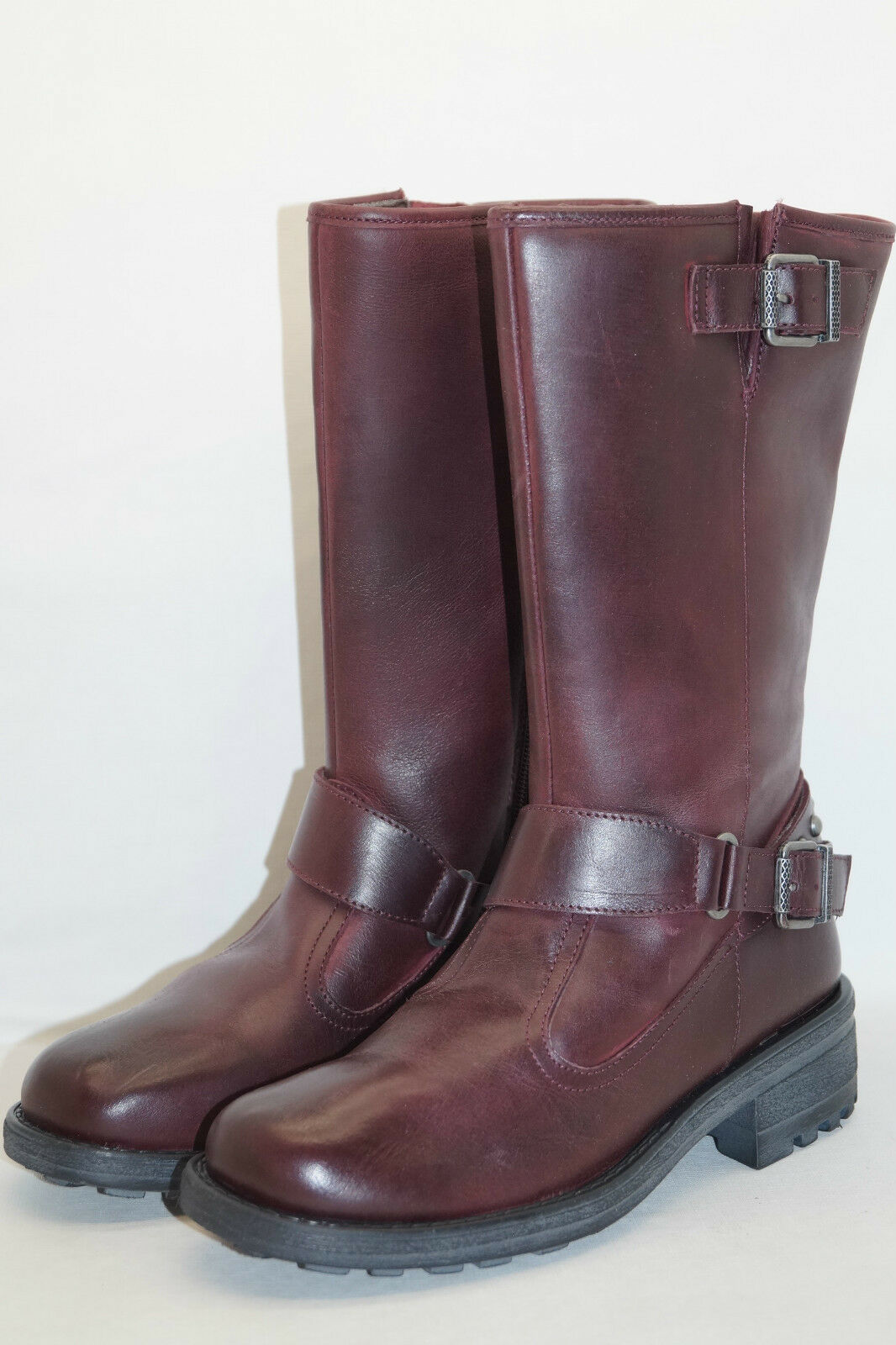 B.C. Best Connection by Heine Stiefel Gr.35 UK 2,5 USED-LOOK bordeaux rot Leder