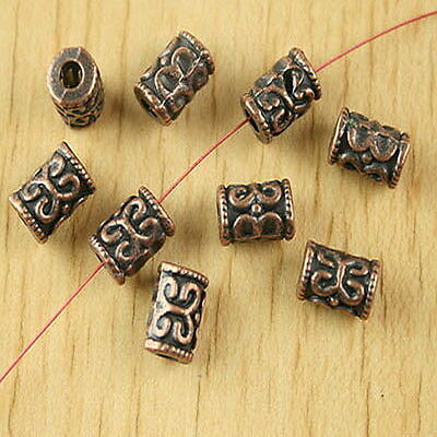 20pcs copper-tone tube spacer beads h2766