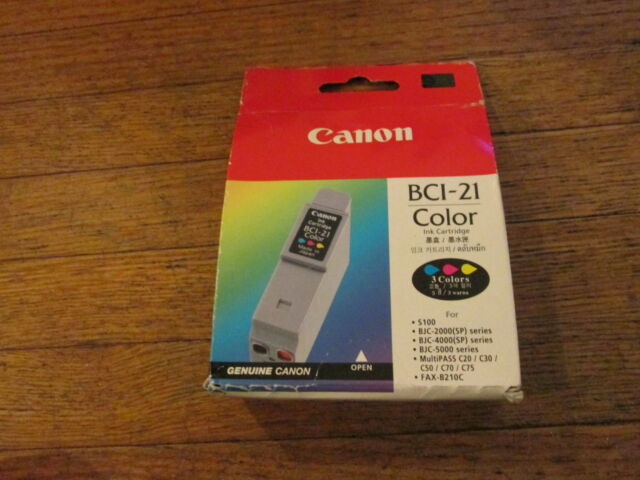 Lot of 8 Genuine Canon BCI-21 Color Ink Cartridges