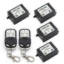 12V 4X1 Channel Wireless Remote Control Light Switch Kit RF Relay 2 Transmitter