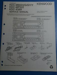 kenwood kdc m6024 g gy y kdc mp522 kdc x569 service manual ebay rh ebay co uk Kenwood KDC- 252U kenwood kdc-mp522 wiring diagram