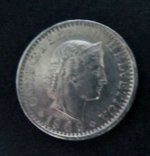 """Münze 20 Rappen Schweizer Franken 1969 """"B"""" aus Umlauf gültiges Zahlungsmittel"""