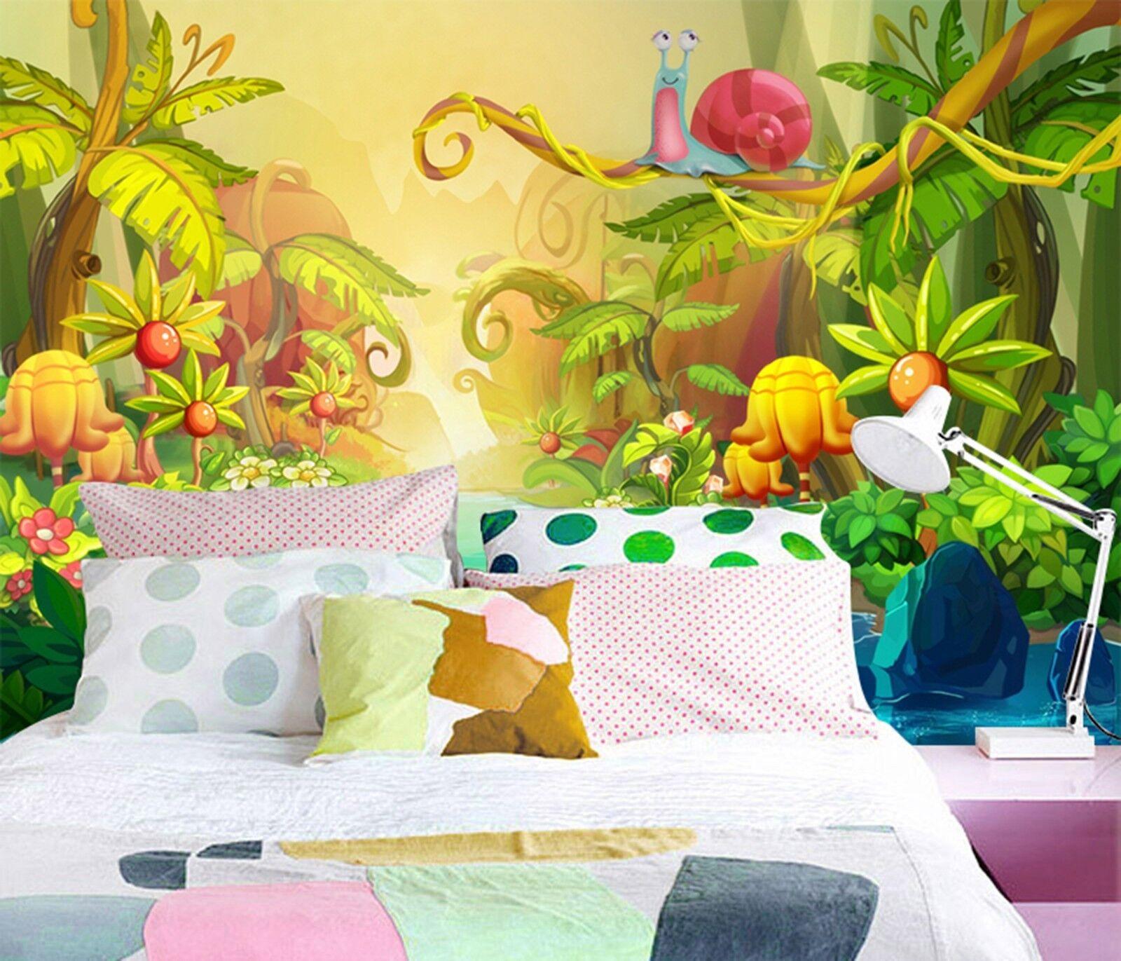 3D Karikatur Karikatur Karikatur Dschungel Kind 988 Tapete Wandgemälde Tapeten Bild Familie DE Lemon | Fairer Preis  | Online-verkauf  | Wir haben von unseren Kunden Lob erhalten.  185909