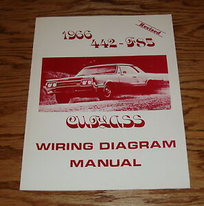 1966 Oldsmobile Cutlass 442 - F85 Wiring Diagram Manual 66 ...