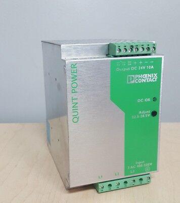 Phoenix Contact QUINT-PS-3X400-500AC//24DC//5  Power Supply 24 Vdc 5 Amps Psu