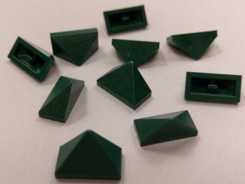Bulk Lot Lego Part No.3048c Dark Green Slope 45 2x1 Triple Inside Bar Qty x 10