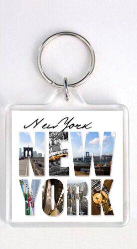 New York Farbe View Schlüsselanhänger Souvenir Schlüsselanhänger