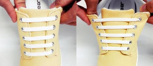 ELASTISCHE SCHNÜRSENKEL SILIKON Gummi Schuhbänder Schuhe kein Schuhe binden!