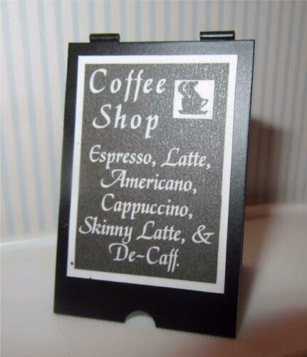 /'A/' BOARD SIGN MINIATURE DOLLHOUSE 1:12 SCALE COFFEE SHOP ESPRESSO M205