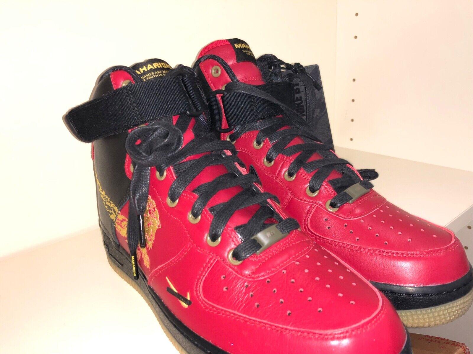 Nike Air Force 1 High by maharishi nero rosso, 42 EU, New