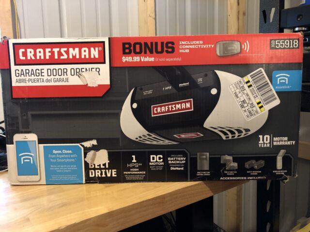 Craftsman 1 Hps Belt Drive Garage Door Opener With Gateway 55918 New For Sale Online Ebay