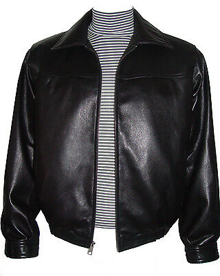 1023 Big Man Bomber Leather Jackets Tall and All Size