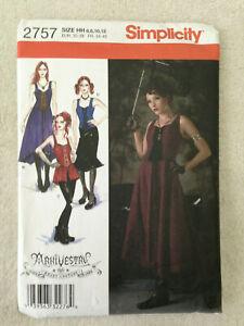 oop s 2757 steampunk goth cosplay corset dress pattern 6