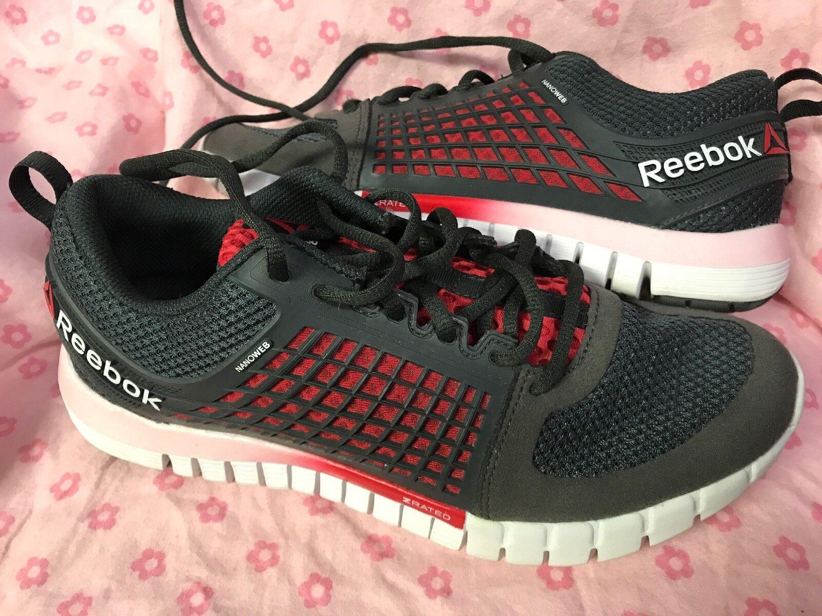 Reebok Grey Sneakers Size 7.5 Ladies Grey Reebok Pink Red 25be9c