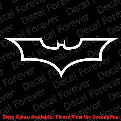 OUTLINE ONLY BATMAN Superhero Car//Window Vinyl Decal for Off Road 4x4 CM003
