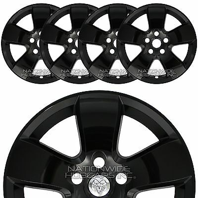 "4 Black 2009-12 Dodge Ram 1500 20"" Wheel Skins Hub Caps 5 Spoke Alloy Rim Covers"