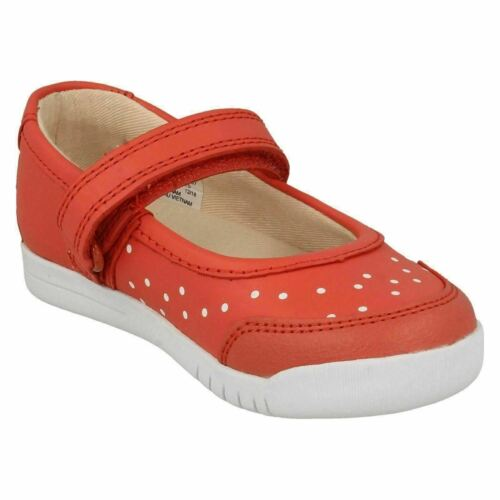 GIRLS CLARKS EMERY HALO K CORAL SUMMER SHOES