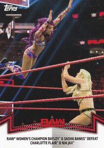 2018-Topps-WWE-Women-039-s-Division-Sammelkarte-Momments-RAW-8-Sasha-Banks