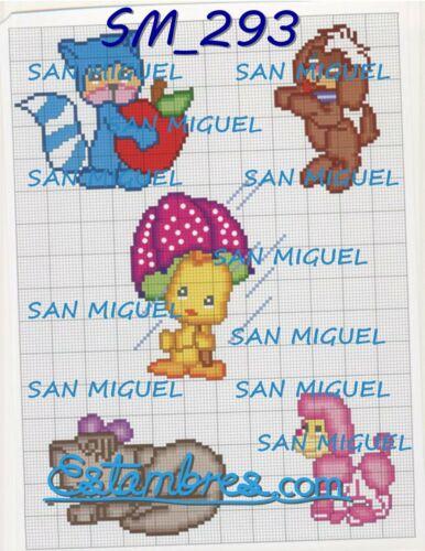 SM250-314 1 de 7-puntada bordado patrónpara bordar bordado San Miguel