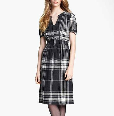 BURBERRY BRIT Smoky Check Short Sleeve Dress 42 US2 NWT