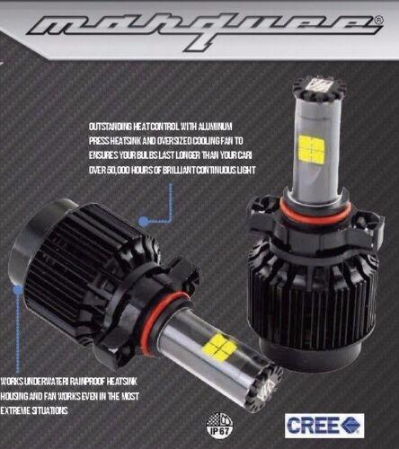 H13 9008 CREE 80W LED Headlight Kit Bulb Off-Road High-Low Beam Xenon White USA