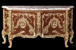 Marbre commode baroque buffet style antique blanc louis xv