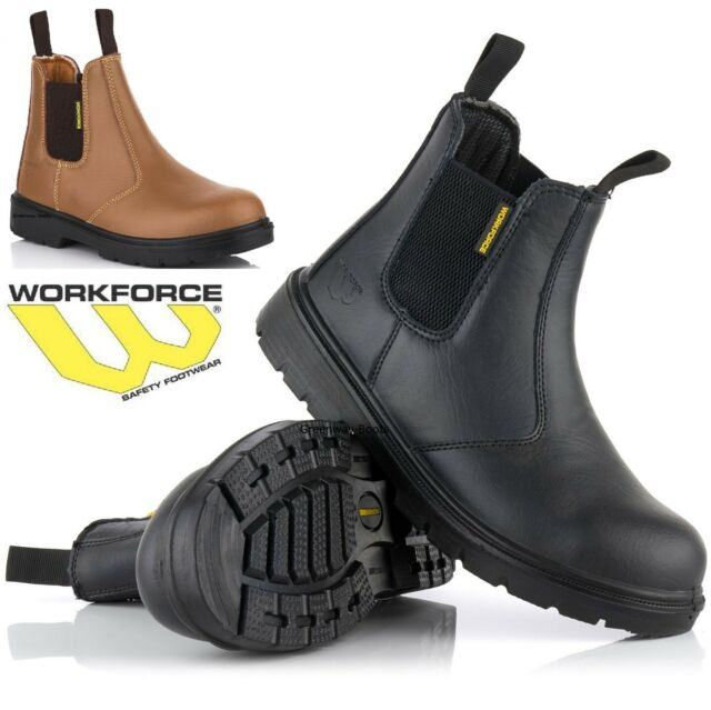 MENS  LEATHER DICKIES ANTRIM SAFETY BOOTS STEEL TOE CAP WORK ANKLE SHOES SZ 6-13