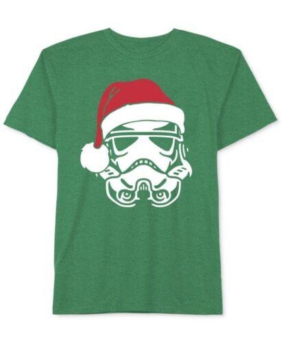 Star Wars Darth Vader Santa Hat Green Novelty Holiday Tee Toddler Boys Size 3 4