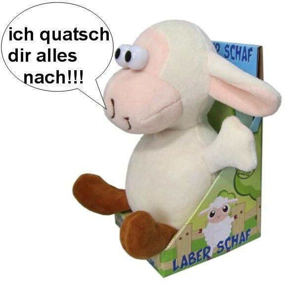 Laberschaf plappert alles nach, Labertier Laber Schaf Plüsch lustig Lamm