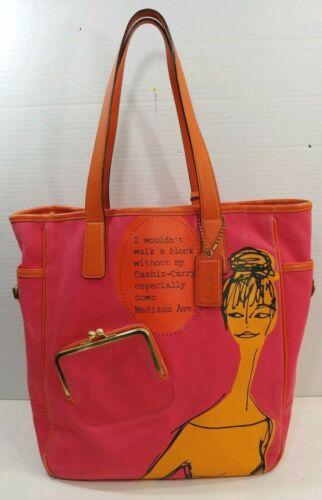 Coach Shopper Tote Bag Purse Bonnie Cashin Carry M