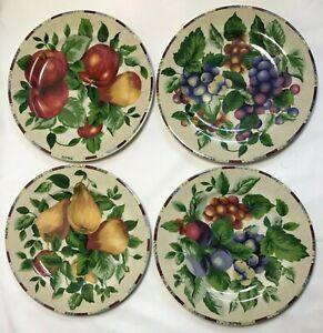 Dessert Plates Set of 4 Fruit Design Plate Lot Sakura Oneida Sonoma Salad