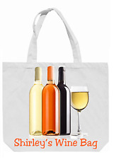 Personalised Wine Bottles Shopping / Tote / Overnight Bag - Lovely Gift for Xmas