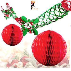 2-Natale-Natale-da-appendere-parete-soffitto-Garland-2-Palla-a-Nido-D-039-Ape-Decorazione