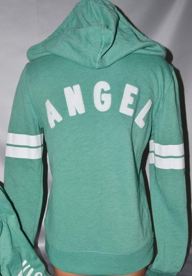 Victorias Secret Supermodel ANGEL Varsity Patches Zip Zip Zip Hoodie NWT S 93f25e