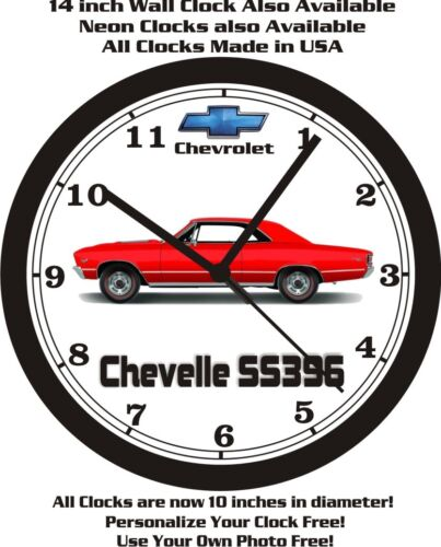 1966-1967 CHEVROLET CHEVELLE SS396 WALL CLOCK-FREE US SHIP