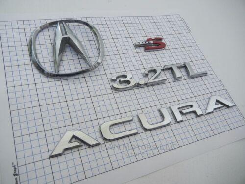 Acura 3.2TL 2003 type s 3.2 TL rear trunk emblem badge logo set oem genuine